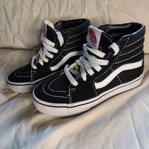 vans high tops kids size 13 black and white